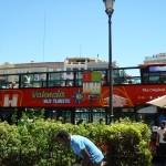 Площади Королевы (Plaza de la Reina) , туристический автобус